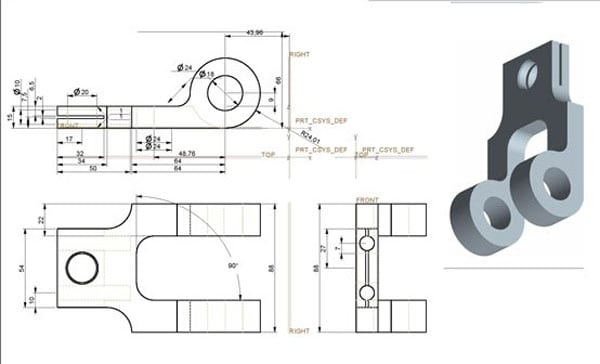 Mechanical 2D & 3D Drafting