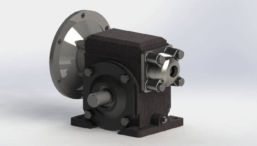 cad conversion of reducer gear assembly 1
